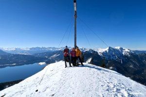 Wir drei Gipfelstürmer