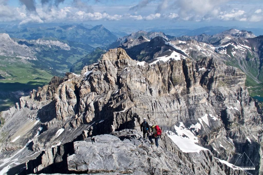 Gipfelblick Gspaltenhorn